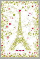 Paris Eiffel tower towel
