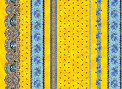 Provence Fabric Yellow Blue | French Rendez-vous