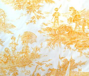 french yellow toile