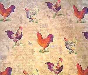 french fabric rooster