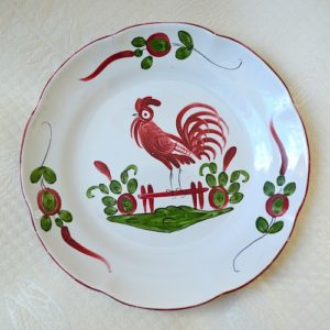 french plate rooster
