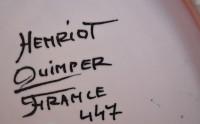 Henriot Quimper Gros Filets Charger